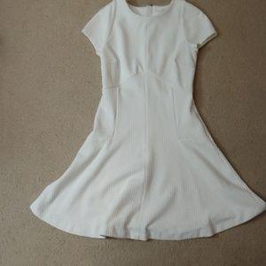 Banana republic a line dress in white